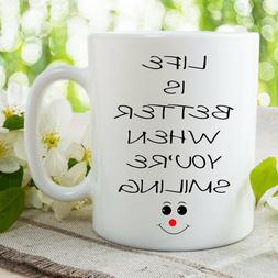 Printed Ceramic Mugs Inspirational Quote Work Office Coffee