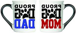 Tumbleweed - Proud Dog Mom And Proud Dog Dad - Dog Mug Set -