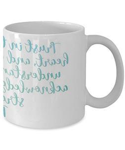 Proverbs 3:5-6 Purple Heart - Coffee Mug, Tea Cup, Funny, Qu