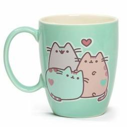 pusheen cat pastel stoneware mug