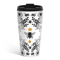 Society6 Queen Bee Metal Travel Mug 15 oz