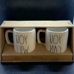 Rae Dunn You Will Can set 2 coffee mugs
