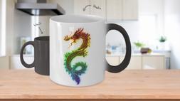 Rainbow Dragon Color Changing Coffee Mug Cup