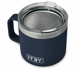YETI Rambler 14 oz Mug, Stainless Steel, Vacuum Insulated wi