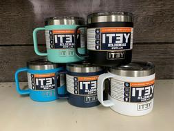 Yeti Rambler Camp Mugs w/Lid: Navy, Black, White, Seafoam, R