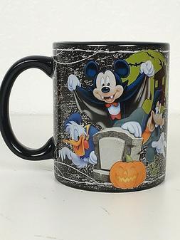 RARE Disney Halloween Mug Cup Who's Scared? Mickey Mouse Don