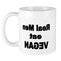 CafePress Real Men Eat Vegan 2 Mugs 11 oz Ceramic Mug