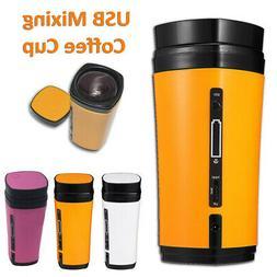 Rechargeable USB Heating Self Stirring Tea Coffee Cup Mug Au