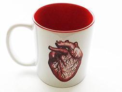 red Anatomical Heart Mug 11 oz. human anatomy cardiologist m