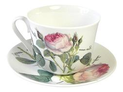 Roy Kirkham Redoute Rose Breakfast Teacup Cup and Saucer Set