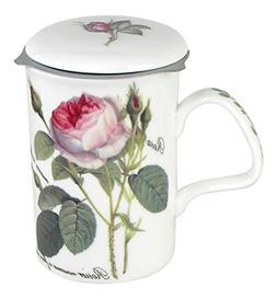 Roy Kirkham Redoute Rose Three Piece Tea Mug Set with Infuse