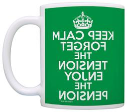 Retirement Gifts Keep Calm Forget Tension Pension Retired Co