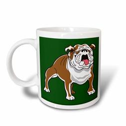 3dRose Retro Style Animal Pet Dog Realistic Brown And White