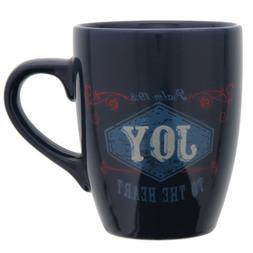 Christian Art Gifts Retro Blessings Cobalt Joy Verse Mug - P