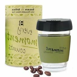 Reusable 12 oz Coffee Cups With Lids- Fits Under Keurig- 4 1