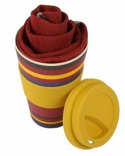 Reusable bamboo mug and matching plain men's bamboo organic