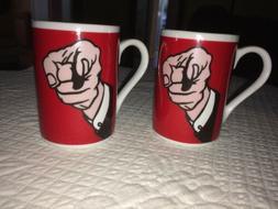 Roy Lichtenstein Espresso Set 2 mugs cappuccino double shot