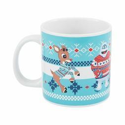 Vandor Rudolph and Bumble Ugly Sweater 20-Ounce Ceramic Mug