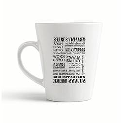 """Style In Print """"Grammy""""S Rules"""" Funny Coffee Tea Ceramic Lat"""