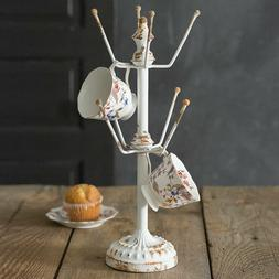 Rustic Chic Shabby Country Style Display Stand Mug Tea Cup H