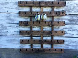 Rustic pallet wood coffee cup rack 48 mug hooks XL You are h