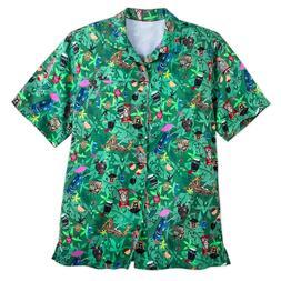 Disney's Tiki Mugs Trader Sam's Aloha Shirt for Men XL