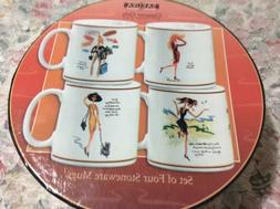 Sakura Glamour Girls stoneware coffee mugs set of 4 Original