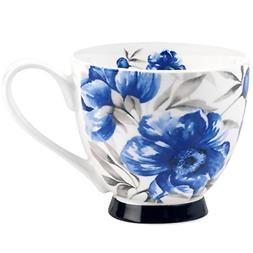 Portobello Sandringham Blue Peony Bone China Mugs Tea Cups,