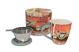 Lang Savor The Moment Tea Infuser Mug, Multicolor by LANG