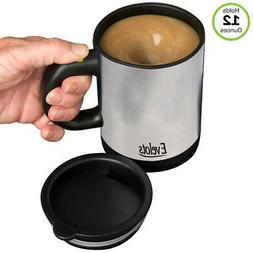 Evelots Self Stirring Battery Operated 12 Oz Mug, Coffee, Te