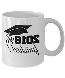 Seniors Class of 2018 - graduation gift mug for him or her -