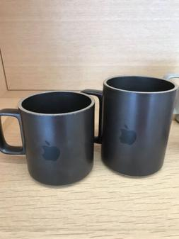 set 2 logo apple macintosh computer porcelain