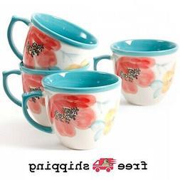 Set 4 The Pioneer Women 16oz Decorated Coffee Cup Mug Vintag