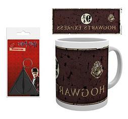 Set: Harry Potter, Platform 9 3/4 Photo Coffee Mug  And 1 Ha