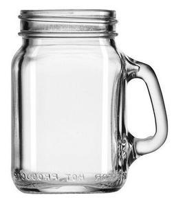 Libbey Set of 12 Small Mason Drinking Jars Mason Handles Mug