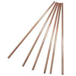 Set of 2, 4 or 6 Pure 100% copper Straw/stirrer. US Seller !