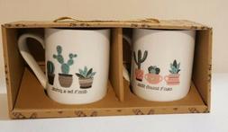 Set of 2 Emily Cactus Coffee Mugs by 10 Strawberry Street NI