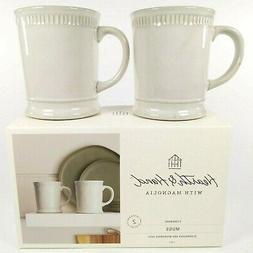 Set of 2 - Hearth and Hand Magnolia - Cream Stoneware - Debo