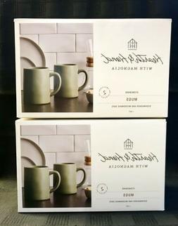 Set of 2 - Hearth and Hand Magnolia - 14oz Coffee Mugs - Mat