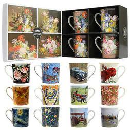Set Of 4 Fine China Mugs Hot Drinks Espresso Coffee Tea Mug