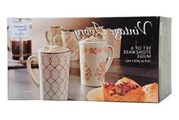 Gourmet Basics by Mikasa Set of Six Vintage Ivory Mugs