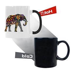 silhouette cheerful flower elephant heat