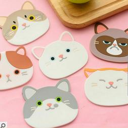 Silicone Cat Animal Table Heat Resistant Mat Coffee Cup Mug