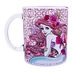 Silver Buffalo DP11086A Disney Princess Ariel Floral Glass C