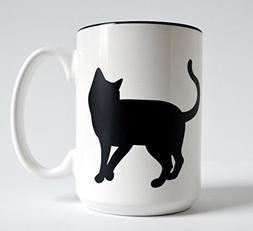 Single Cat Mug - 15 oz, Black Cats, Cat Lover Gift, Coffee M