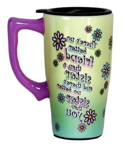 Spoontiques Sister Travel Mug, Green