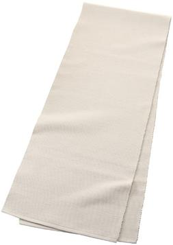 Mahogany Solid-Color 100-Percent Cotton Ribbed Table Runner,