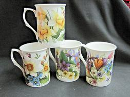 SPRING SUITE OF FOUR DIFFERENT, ENGLISH MADE FINE BONE CHINA