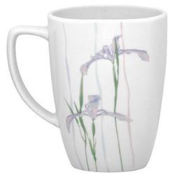 Corelle Square 12-Ounce Porcelain Mug, Shadow Iris