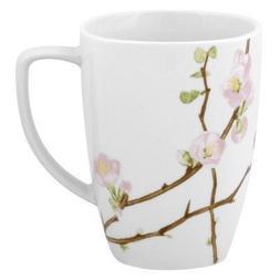 Corelle Square 12-Ounce Porcelain Mug, Cherry Blossom by COR
